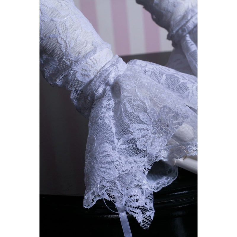 Ladies Gothic Vintage Lace Up Gloves - The Black Ravens
