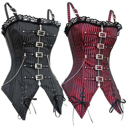 Ladies Hot Body-Shaping Goth Bodice-Black-S-1