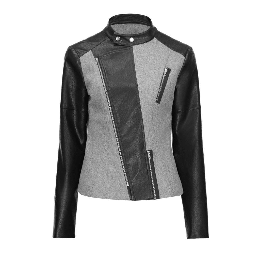 Ladies' Mandarin Collar Basic Outerwear - The Black Ravens