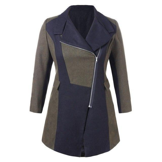 Large Size Women's Sexy Trench Coat-L-