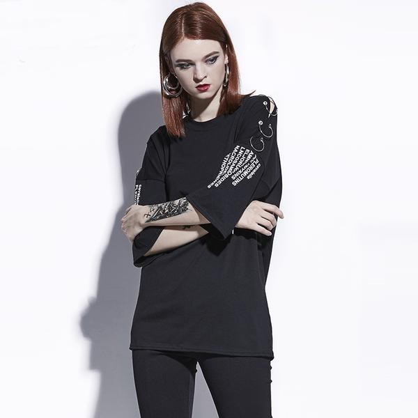 Long Alternative Hollow Out Tees For Ladies - The Black Ravens