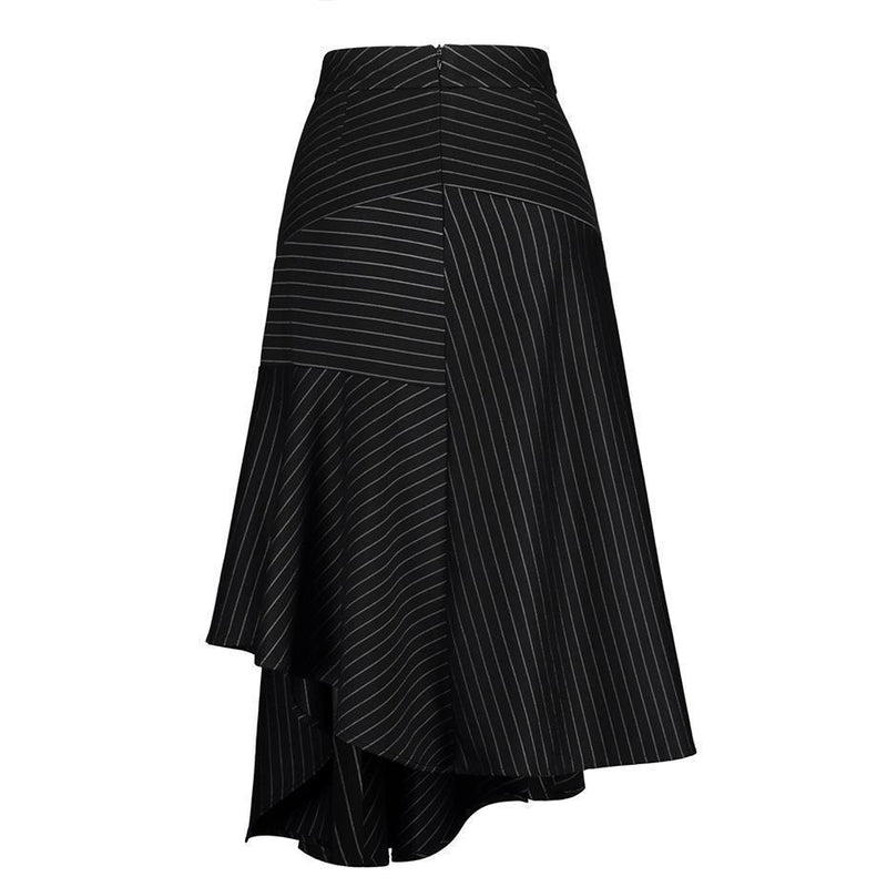 Long Striped Office Lady Skirts - The Black Ravens