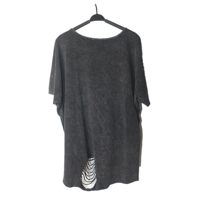 Loose Baggy Casual Rocker T-Shirt-