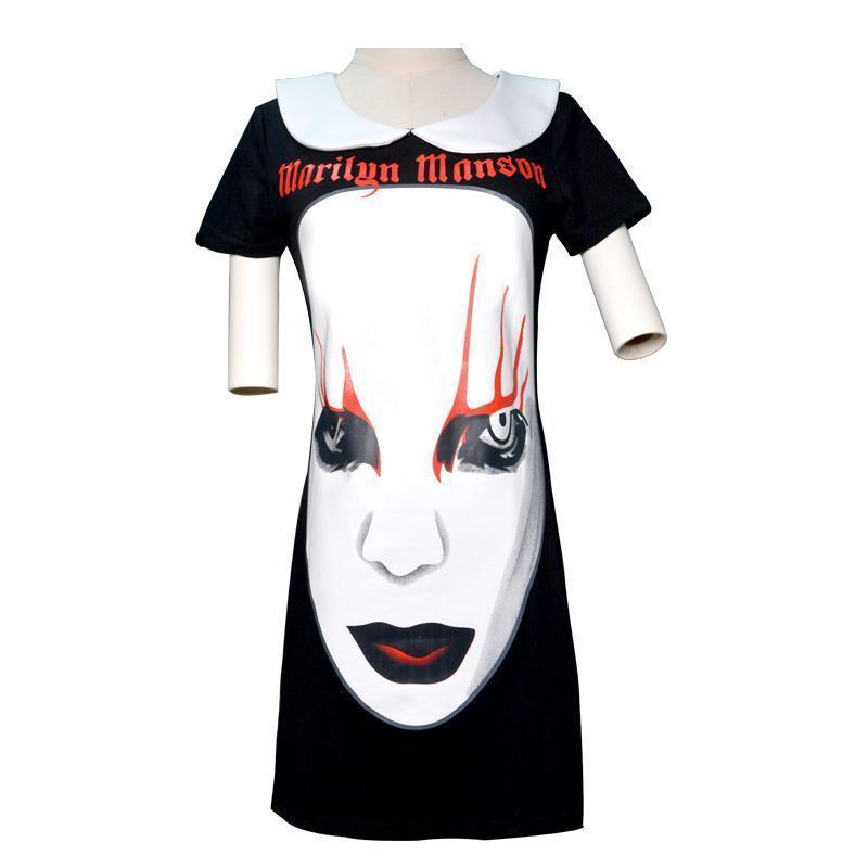 Marilyn Manson Punk Rock Women's Dress - The Black Ravens