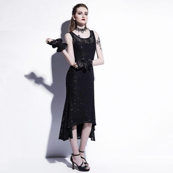 Maxi Mermaid Sexy Asymmetrical Dress - The Black Ravens