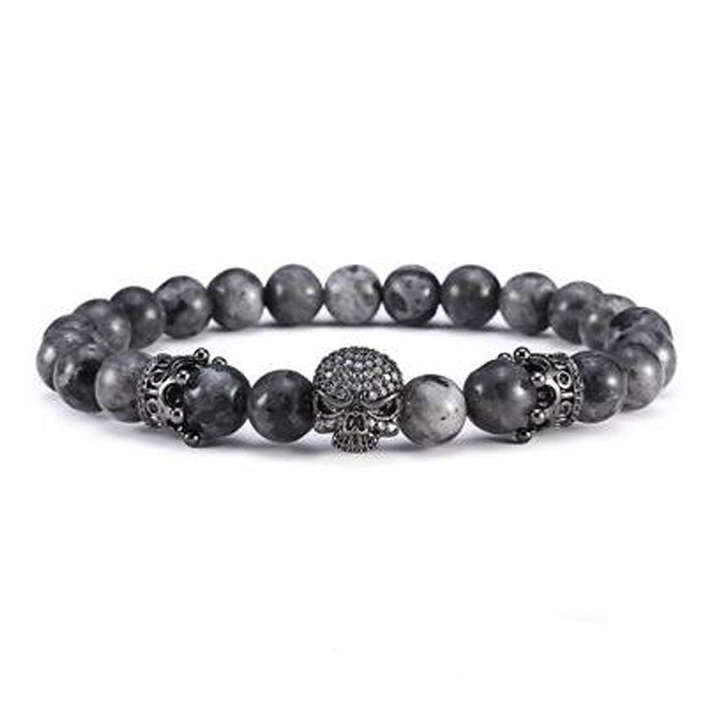 Men's Handmade Gemstones Bracelets - The Black Ravens