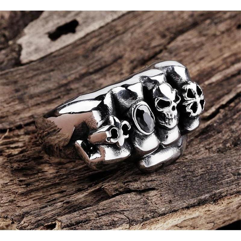 Men's Ring Of Revolution-8-Silver-