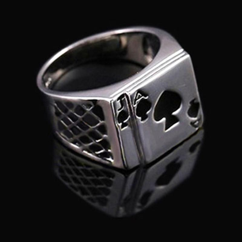Men's Stainless Steel Black Jack Bands - The Black Ravens