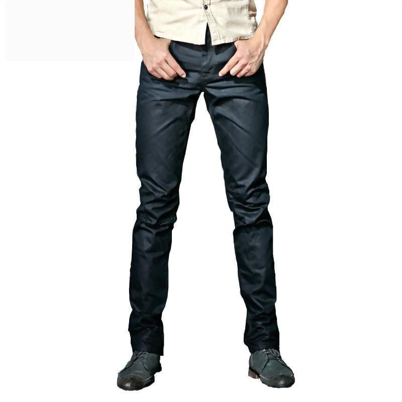 Men`s Wax Coated Slim Fit Biker Jeans - The Black Ravens