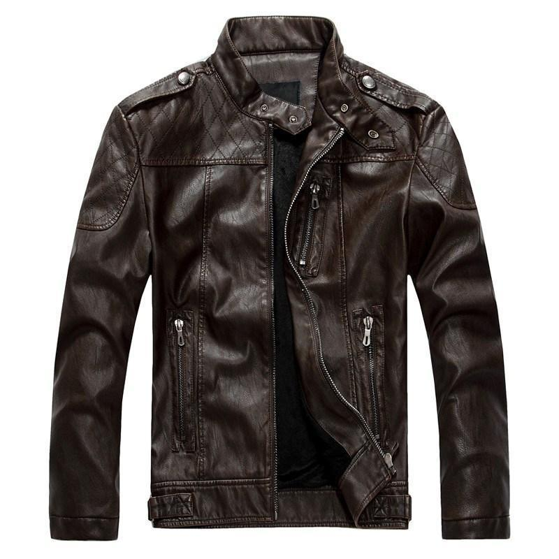 Motorcycle Leather Jacket For Men - The Black Ravens
