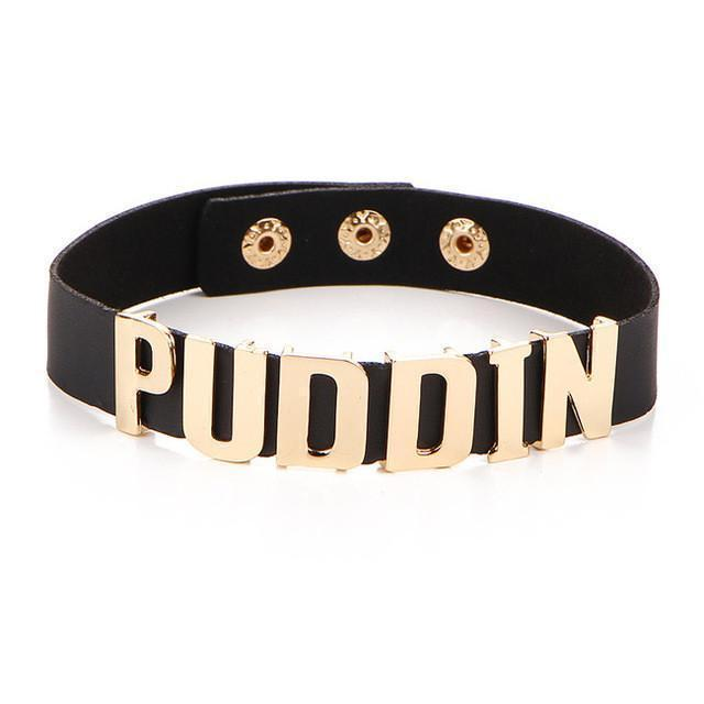 Multiple Colored Harley Quinn Puddin Chokers-Black-