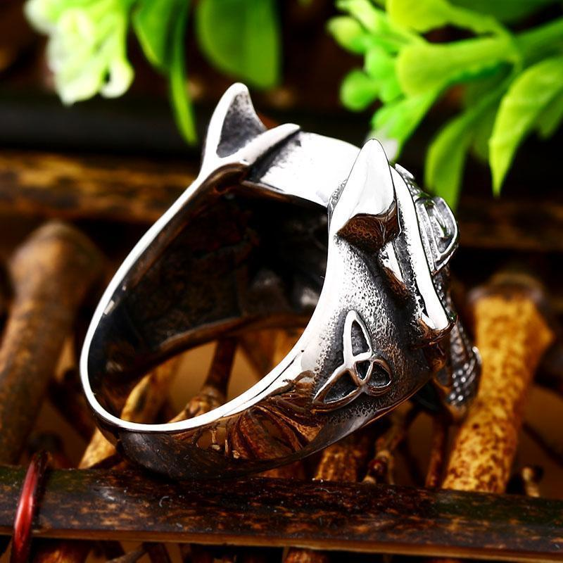 Norse Viking Wolf Rings - The Black Ravens