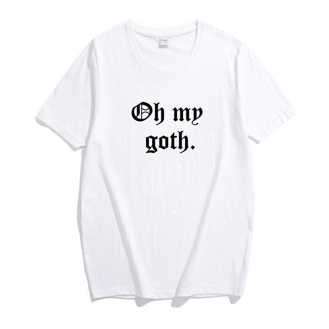 Oh My Goth Unisex Casual Tee-White-XL-