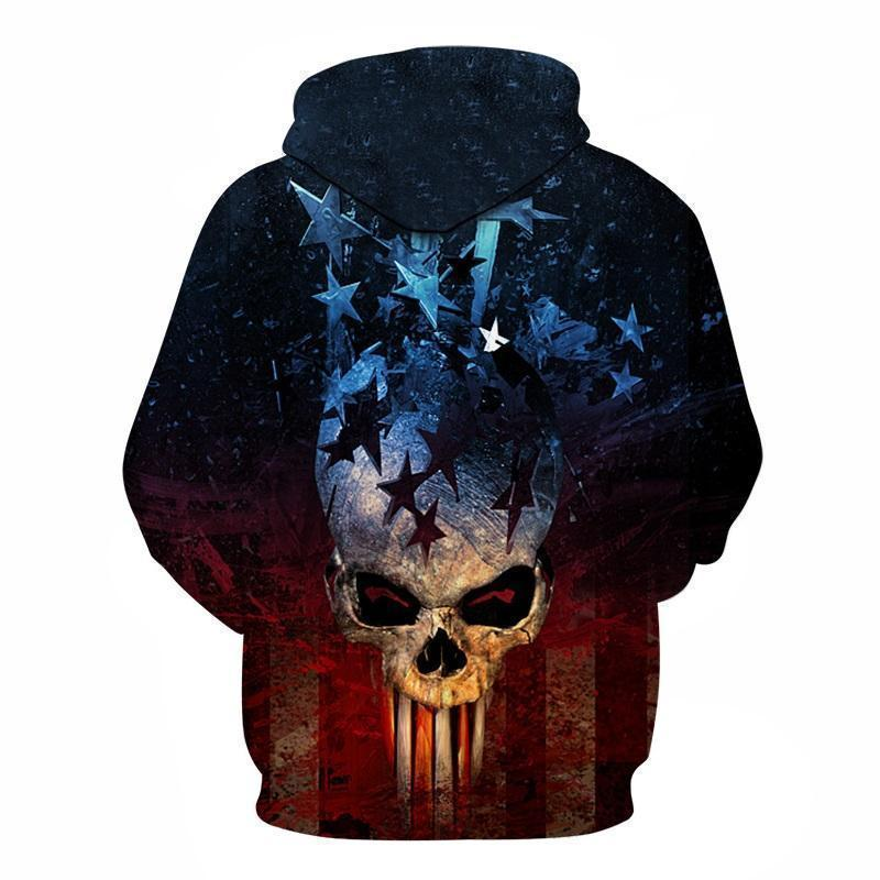 Patriotic Punisher Inspired American Hoodie - The Black Ravens