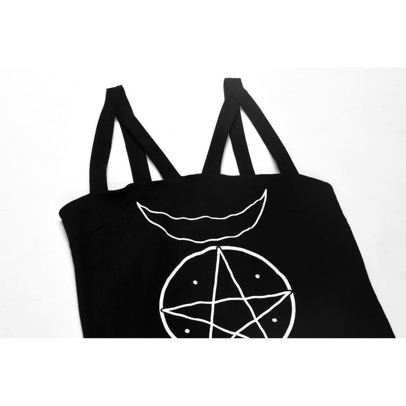 Pentagram And Moon Witch's Top-S-