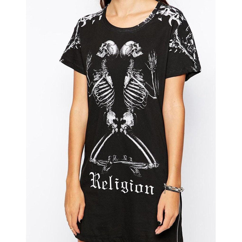 Praying Religious Skeletons Tees-Black-8 - M-