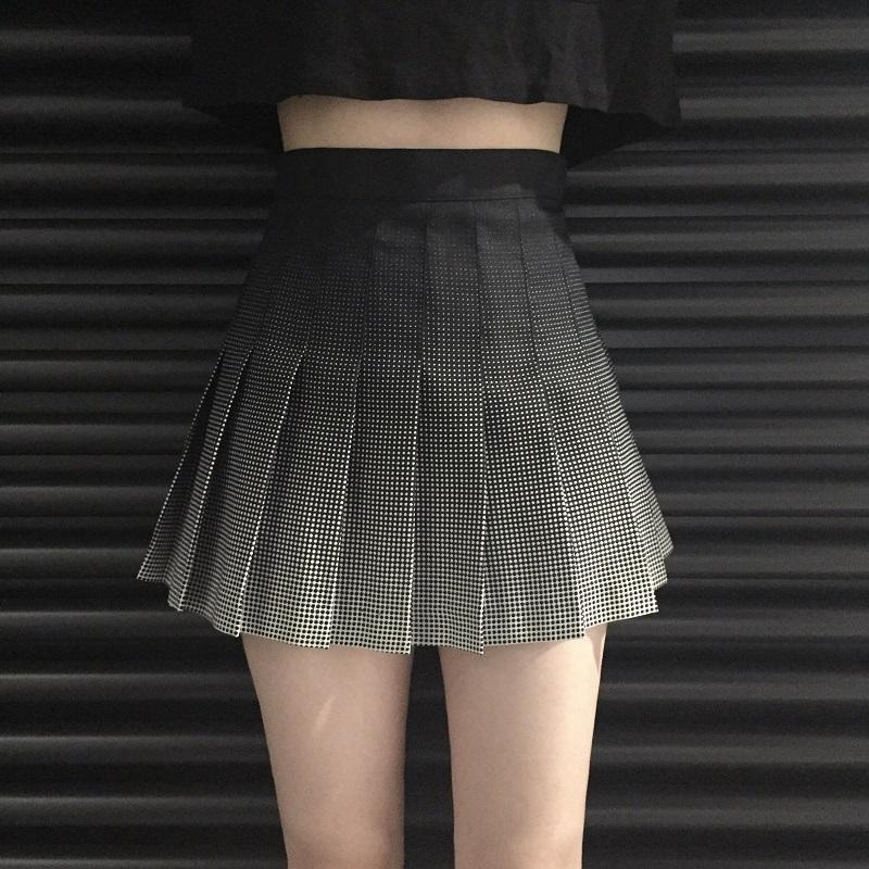 Preppy Vintage Plaid Mini Skirt-S-