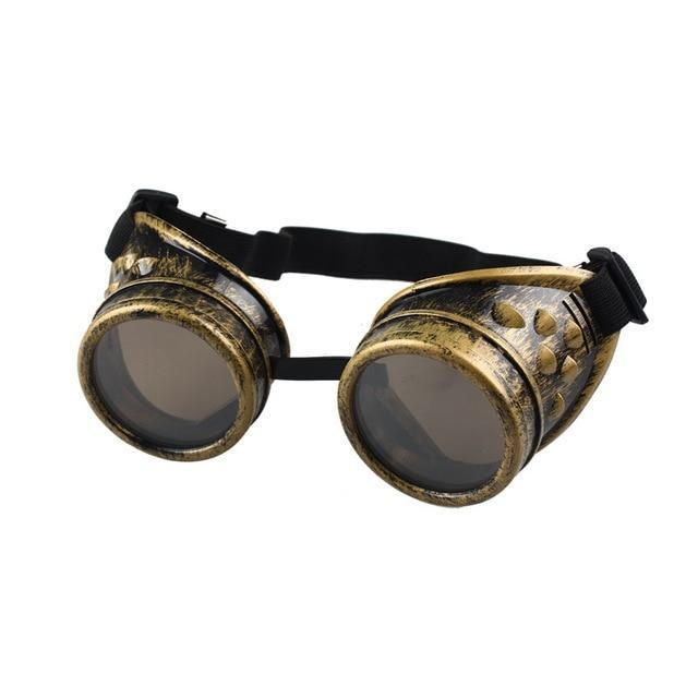 Unisex Bronze, Copper, Black, and Silver Steam Punk Sunglasses - The Black Ravens