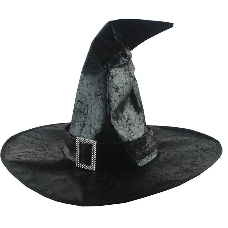 Black Witch Hats Women Large Ruched Hat Masquerade Wizard Hat Party Hats Cosplay Halloween Party Fancy Dress Decor Drama Top Hat - The Black Ravens