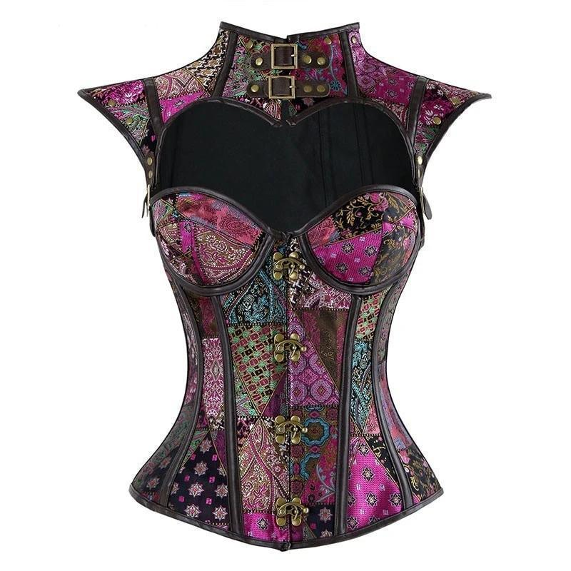 Purple Medieval Gothic Vampire Steampunk Corset - The Black Ravens