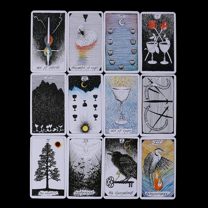 78Pcs/set Wild Unknown Tarot Deck Rider Oracle Cards Mysterious Animal Totem Tarot Cards Deck 78 Cards, Guidance - Board Game - The Black Ravens