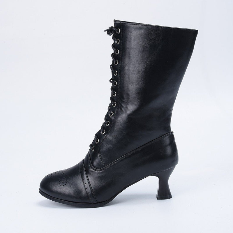 Shoes Women Boots High Heel Shoes Woman New Fashion Booties Gothic Shoes 2019 Winter Boots Women Punk Botas zapatos de mujer - The Black Ravens