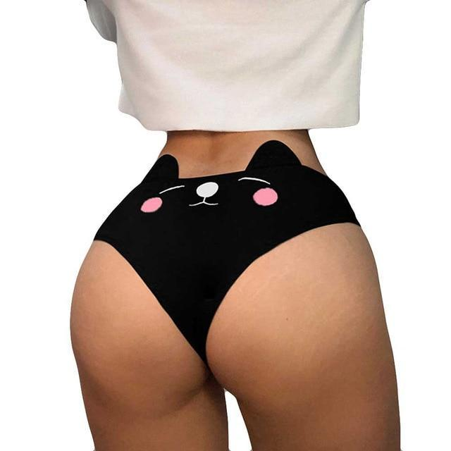 underwear Women Funny Sexy Lingerie G-string Briefs Underwear Panties T string Thongs Knickers ropa interior femenina #L10 - The Black Ravens
