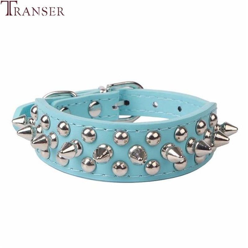 Transer Pet Dog Supplies PU Leather Punk Rivet Spiked Dog Collar Pet Collars For Small Dog Cat 80124 - The Black Ravens