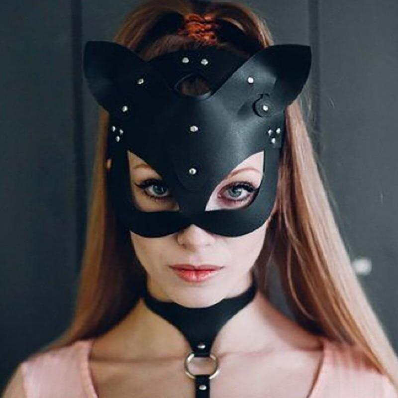 Women Sexy Mask Half Eyes Cosplay Face Cat Leather Mask Halloween Party Cosplay Mask Masquerade Ball Fancy Masks Dropship1 - The Black Ravens