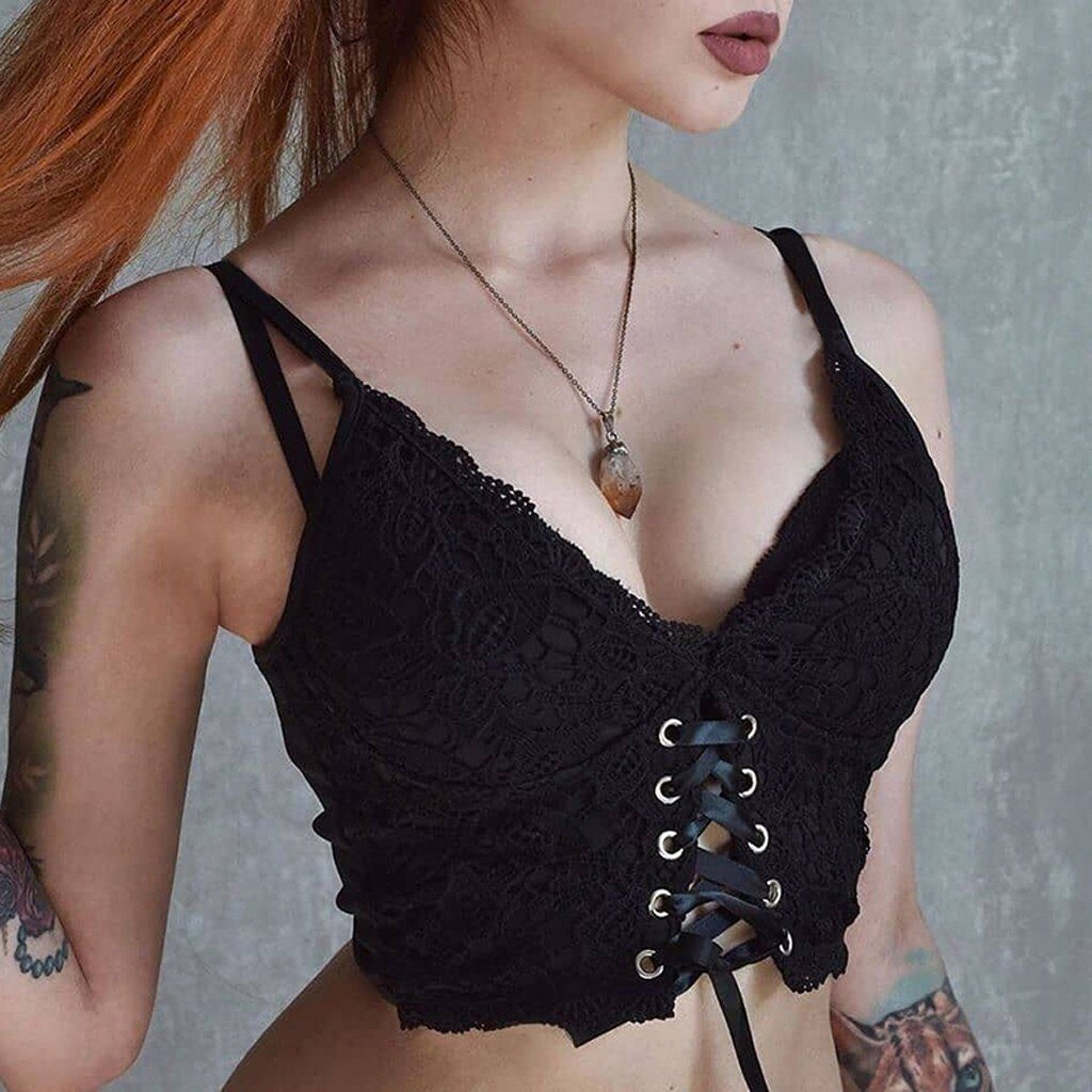 Cute Sexy Lace-up Cami - The Black Ravens