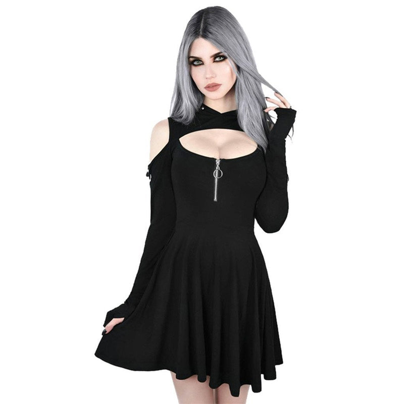 Sexy Gothic Moon Design Crop Top