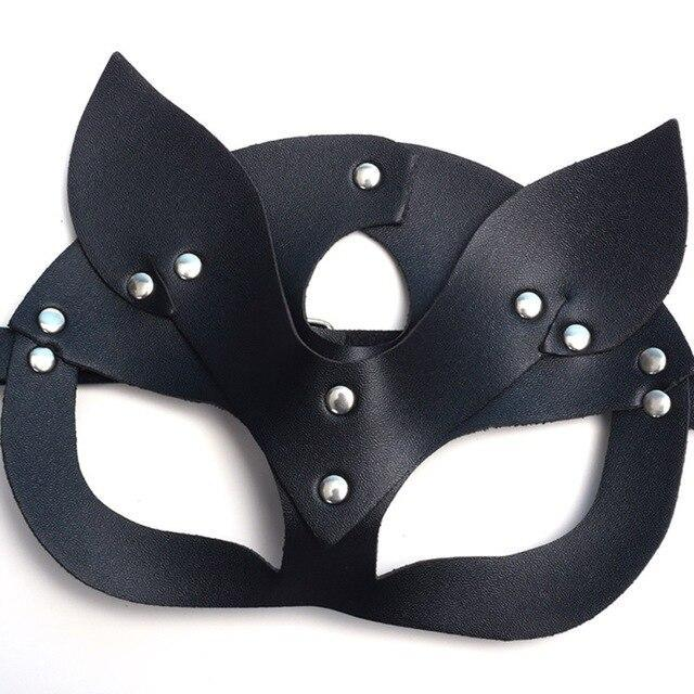 Sexy Cat Mask Half Face Cosplay UltraSoft PU Leather Halloween Masquerade Carnival Party Nightclub Costume Entertainment Masks . - The Black Ravens