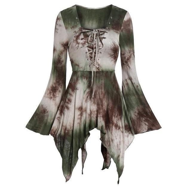 Womens Tops Tunic Long Gothic Punk Hip Hop Clothes Ladies Blouse New Puls Size S-3XL Black Costume Gothic Shirts Tops#J30 - The Black Ravens