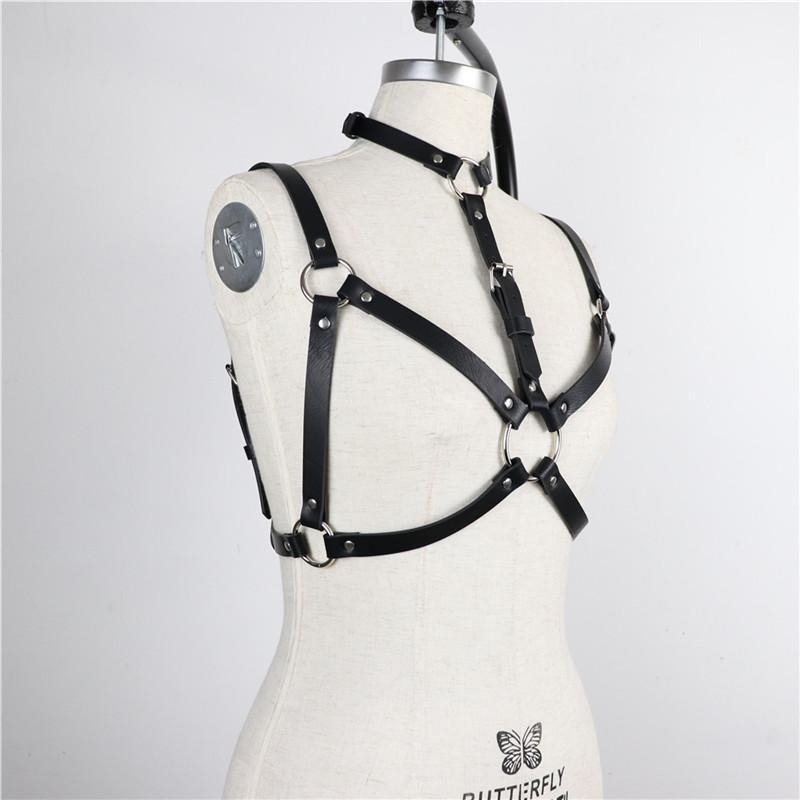PU Vintage women Sexy PU Leather belts Body Leg Bondage Cage Punk Sculpting Harness Waist Belt Straps Suspenders Accessories - The Black Ravens