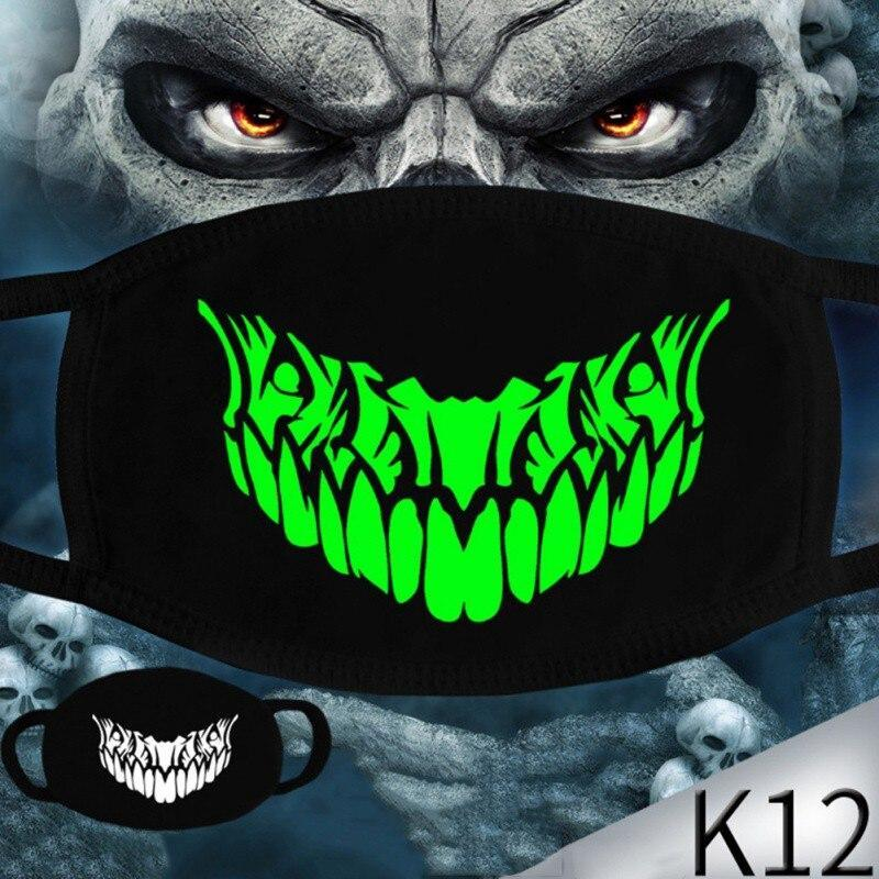 Multi Use Luminous Accessories Mask For Adult Halloween Skull Masks Skeleton PM2.5 Dustproof Skull Half Face Mask Cosplay - The Black Ravens