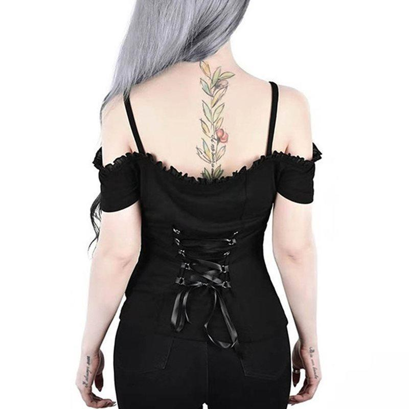 Off the Shoulder Essential Punk/Gothic Cami - The Black Ravens