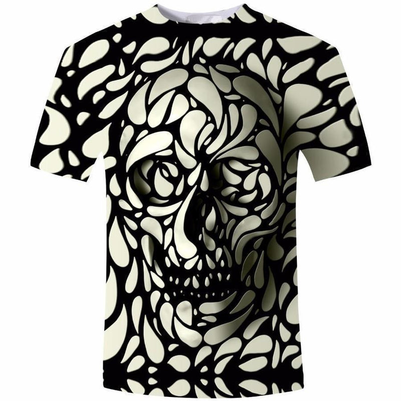 Psychedelic 3D Face Tee - The Black Ravens