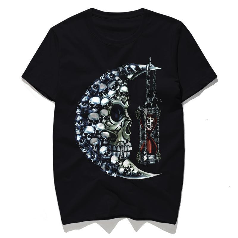 Punk Crescent Moon Top For Men - The Black Ravens