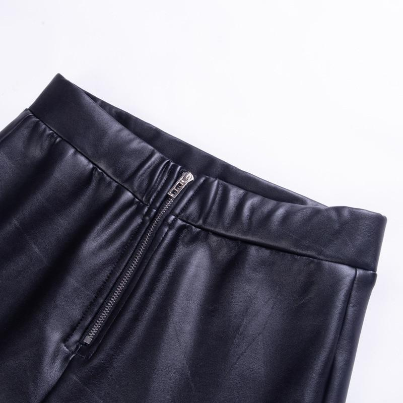 Punk Girls Elastic Leather Pants-S-