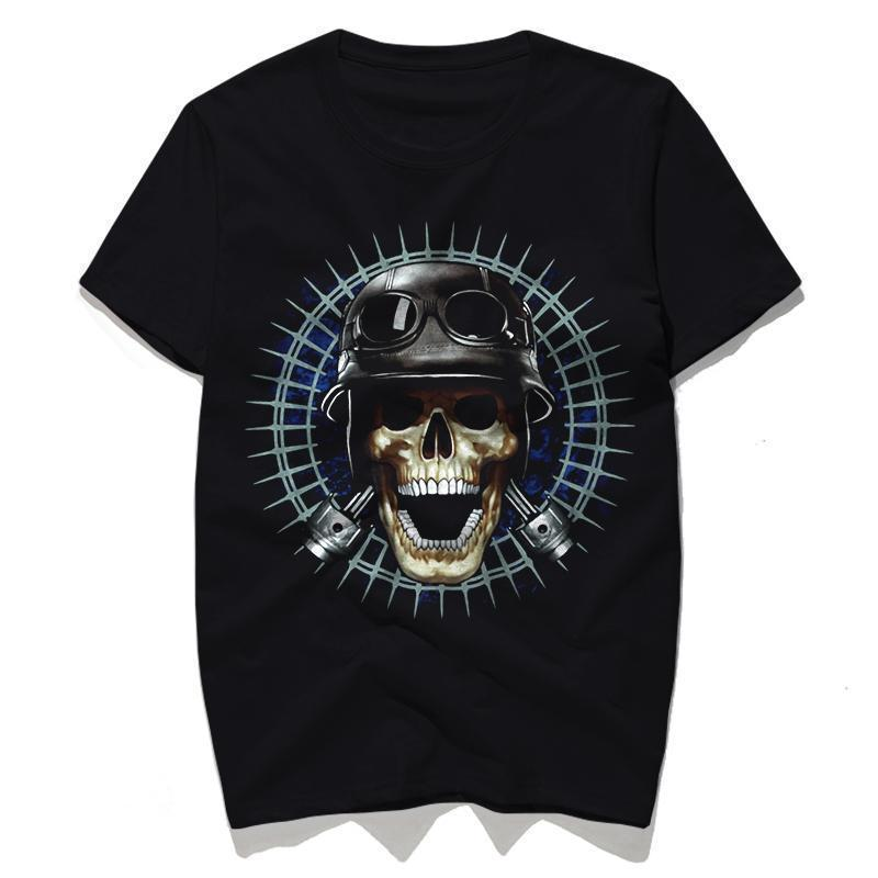 Punk Rock Skull With Hat T-Shirt - The Black Ravens
