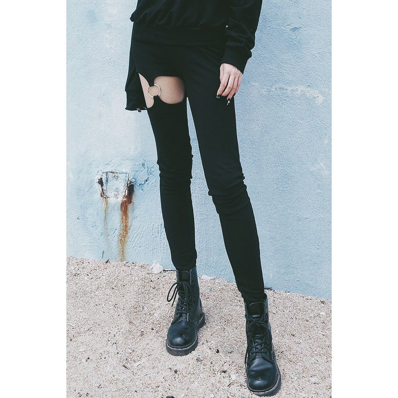 Punk Women's Leg Ring Pants - The Black Ravens