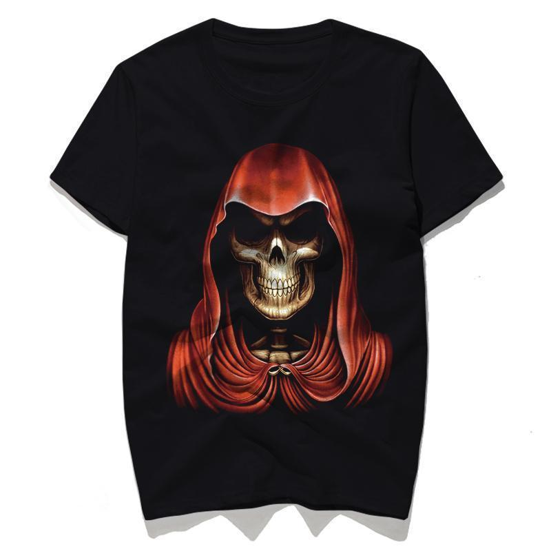 Red Cloak Skeleton Demon Top - The Black Ravens