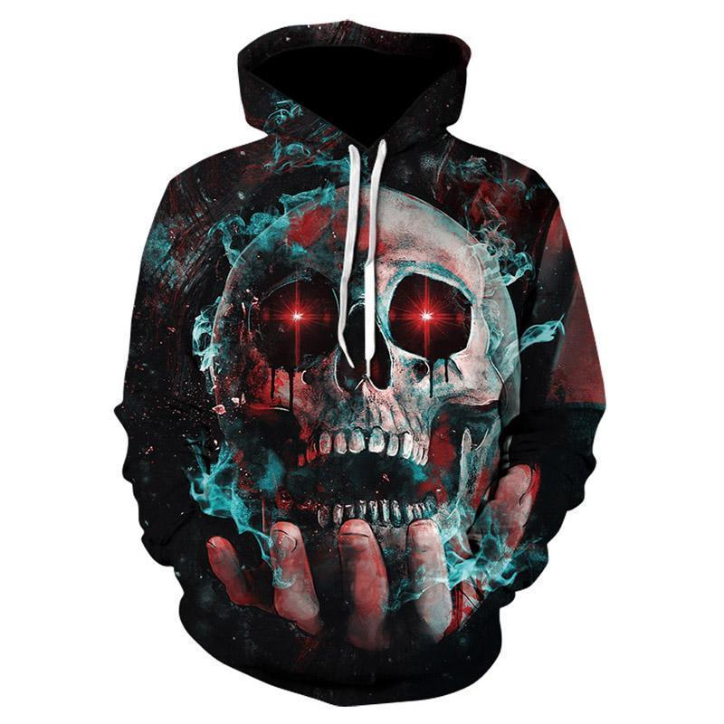 Red Eyed Skull Of The Universe Sweatshirt - The Black Ravens