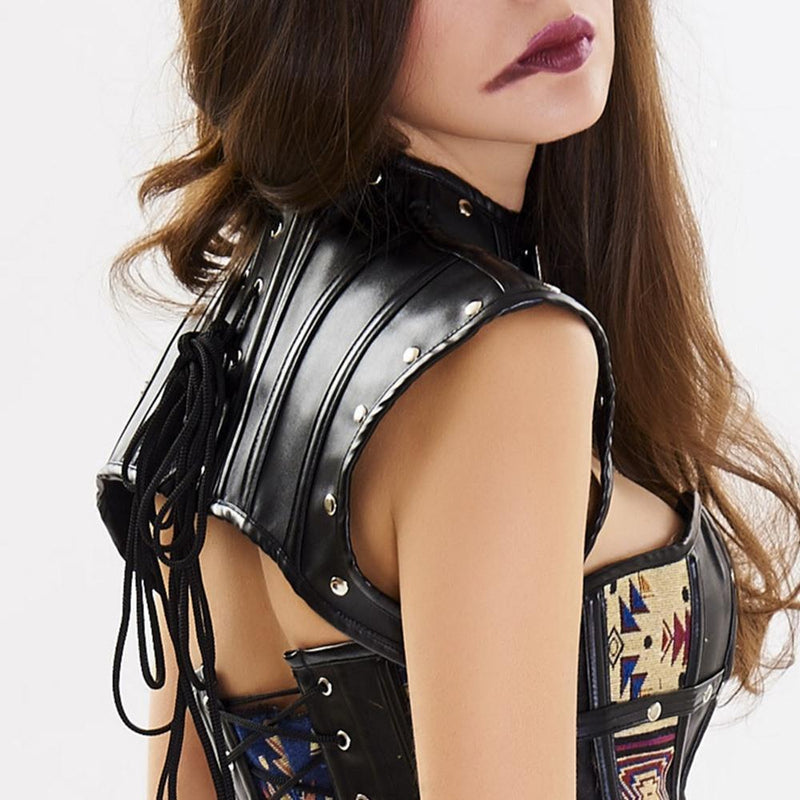 Retro Knight Ladies' Buckled Neck Cage-
