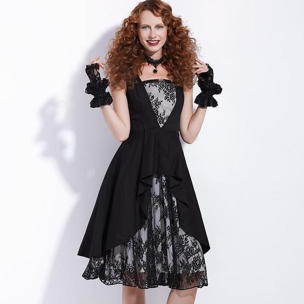 Retro Style A-Line Party Gown - The Black Ravens