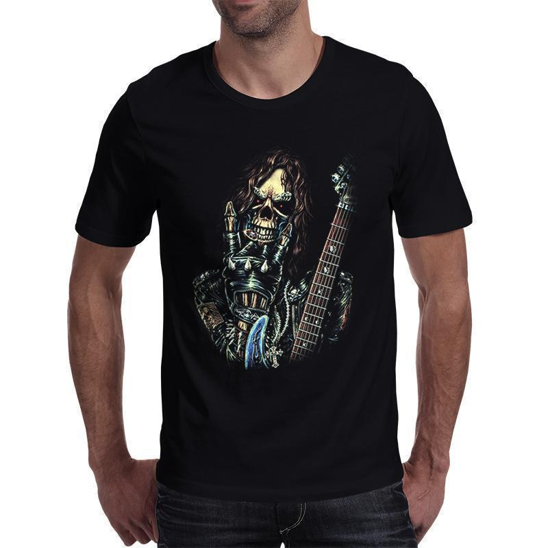 Rock On Demonic Top For Guys-Black-S-
