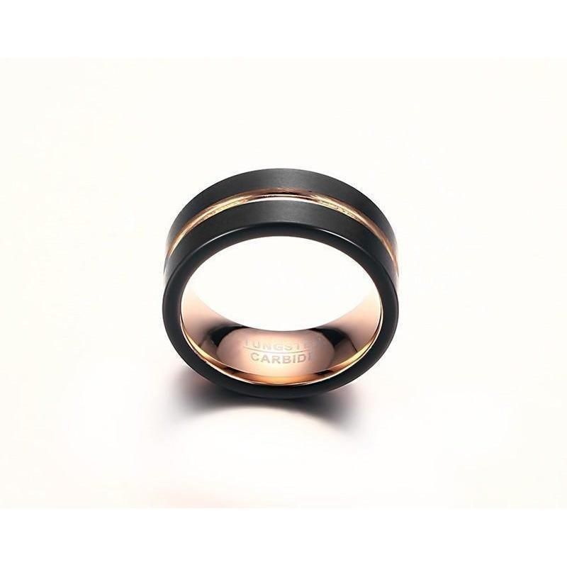 Rose Gold Single Band - The Black Ravens