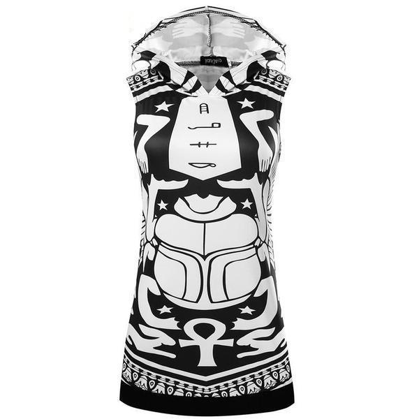 Scarab Women's Hooded Summer Dress - The Black Ravens