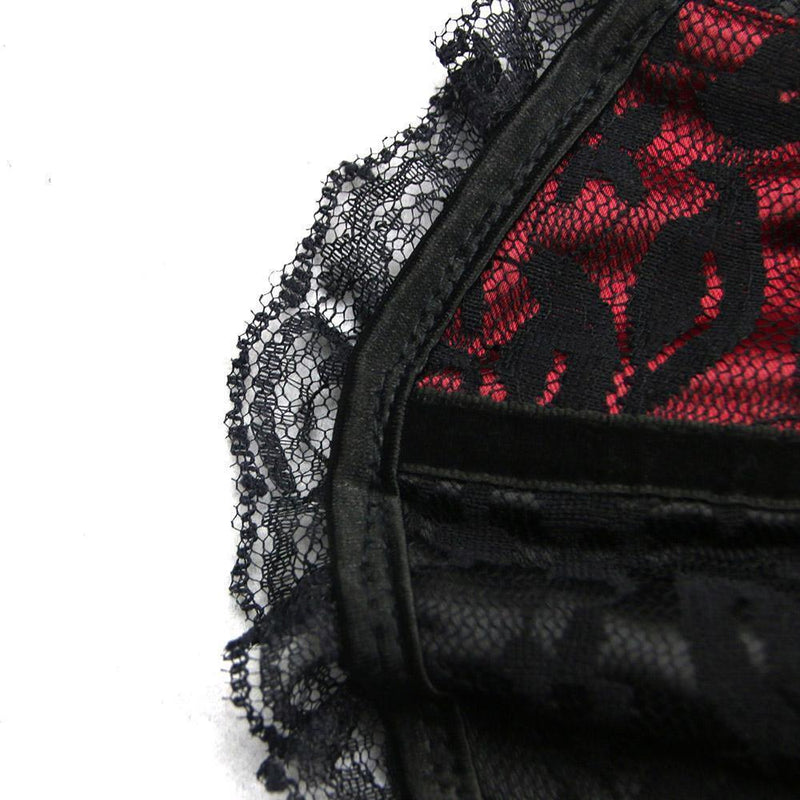 Seductive Black and Red Kinky Gothic Corset - The Black Ravens
