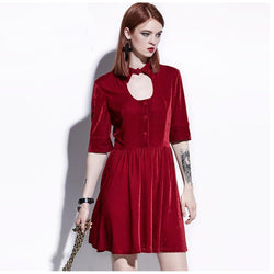 Sexy Above Knee Length Dresses-Red-S-